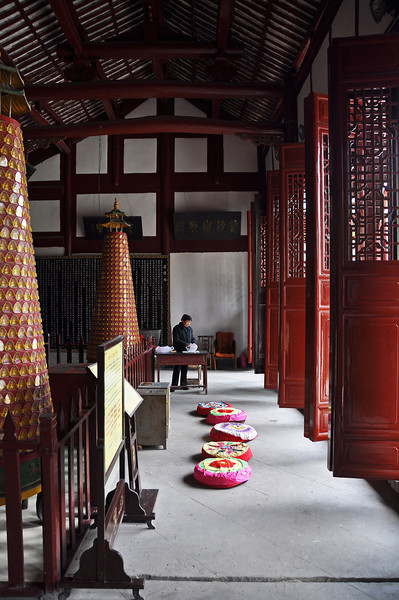 Prayer hall in Taoist temple in Sichuan, China