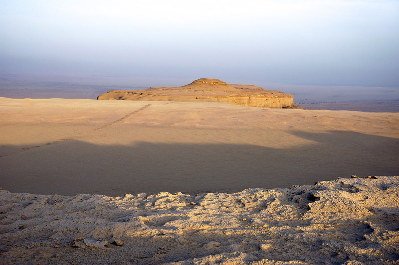 World's oldest paved road near Qasr al Sagha, Egypt