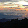 Sunrise over eastern Borneo, as seen from the summit of Mount Kinabalu (4095 m) in Sabah, Malaysia