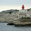 Lighthouse at entrance to Bonifacio harbour, southern Corsica, France