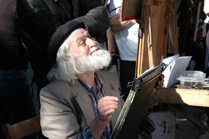 Cartoonist in Montmartre, Paris
