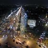 Looking down the Champs Élysées in Paris, France