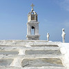Marble-crowned Orthodox church on Tinos island, Greece
