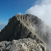 Windy summit of Mount Olympus, northern Greece