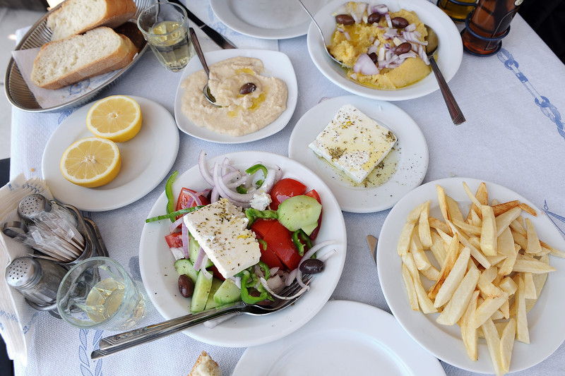 Traditional lunch in a small taverna, Greece