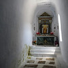Vaulted rural chapel near Tarabados on Tinos island, Greece