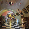 Vaulted subterranean church at the Panagia Evangelistria shrine in Tinos, Greece