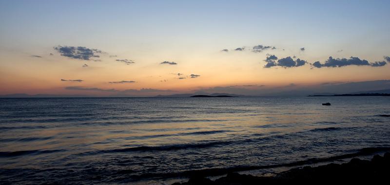 Twilight over the Saronic Gulf, Greece