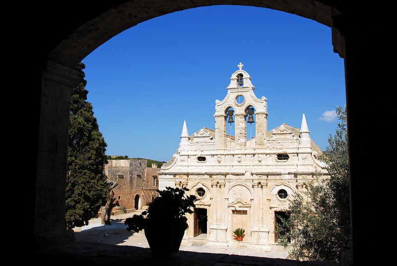 The monastery of Arkadiou on the island of Crete, Greece