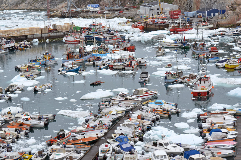 Ice-filled harbour of Ilulissat, west Greenland