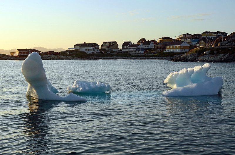 Summer evening in Nuuk, the capital of Greenland