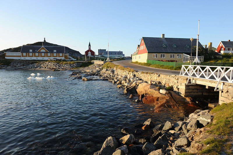 View of old Nuuk, west Greenland