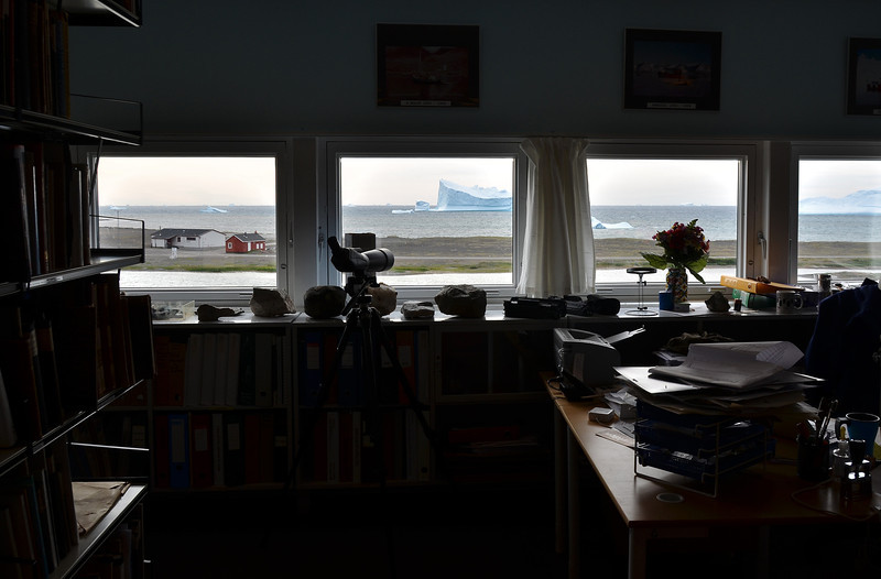 View from laboratory at the Arktisk Station in Qeqertarsuaq, Disko Island