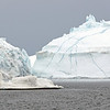 Large icebergs in the Ilulissat Icefjord, west Greenland
