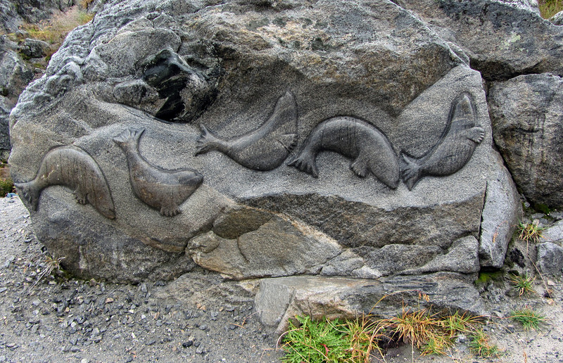 Inuit art 'on the rocks' in Nuuk, Greenland
