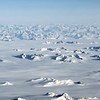 North-looking panorama over the icecap and mountains in the Sikuijivittip region of east Greenland