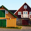 Buildings near the old harbour in Nuuk, west Greenland