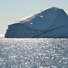 Giant icebergs drifting in Baffin Bay, Greenland
