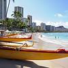 Waikiki beach in Honolulu, Oahu Island, Hawaii