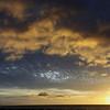 Rain clouds over the Ka'anapali seashore on Maui, Hawaii