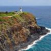 Kilauea Point lighthouse on the north coast of Kauai island, Hawaii