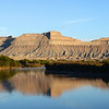 Blue morning skies over the Green River in eastern Utah, USA