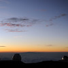 Sunset view over Maui from Big Island's Mauna Kea, the tallest mountain on earth with a height of 10,200 m from the Pacific Ocean seafloor to its summit at 4,205 m, Hawaii