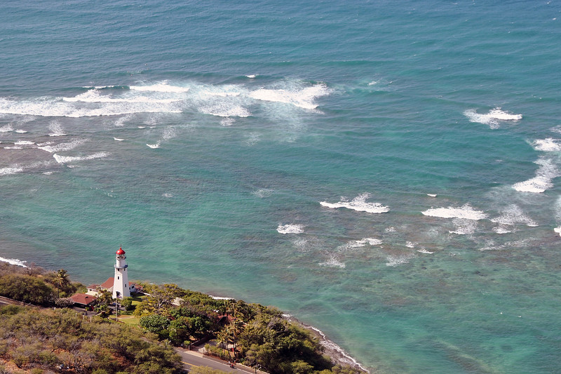 Diamond Head lighthouse on Oahu, Hawaii
