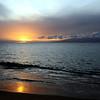Sunset over Moloka'i island, Hawaii