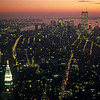 Early evening over southern Manhattan and adjacent boroughs, USA (Jan. 1985)