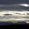Cold front passing over the La Sal Mountains in Utah, USA