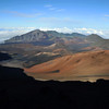 Late afternoon light on the Haleakala volcanic crater on Maui, Hawaii