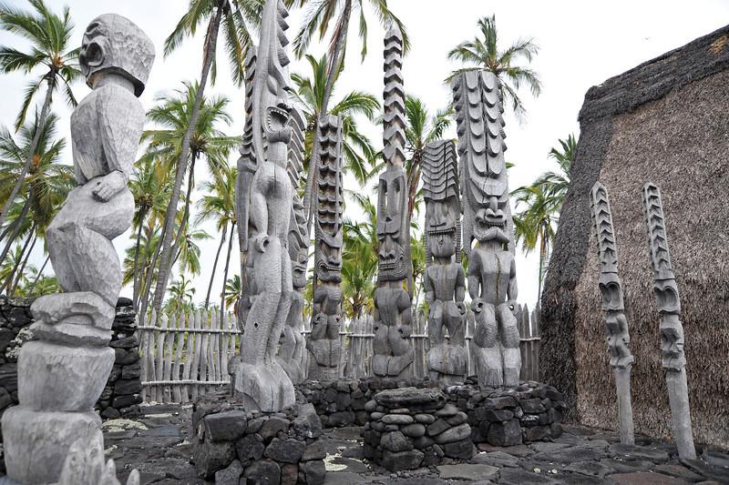 Chief's mansion at Puuhonua sanctuary on Big Island, Hawaii
