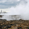 Reykjanes geothermal area and lighthouse, southwest Iceland
