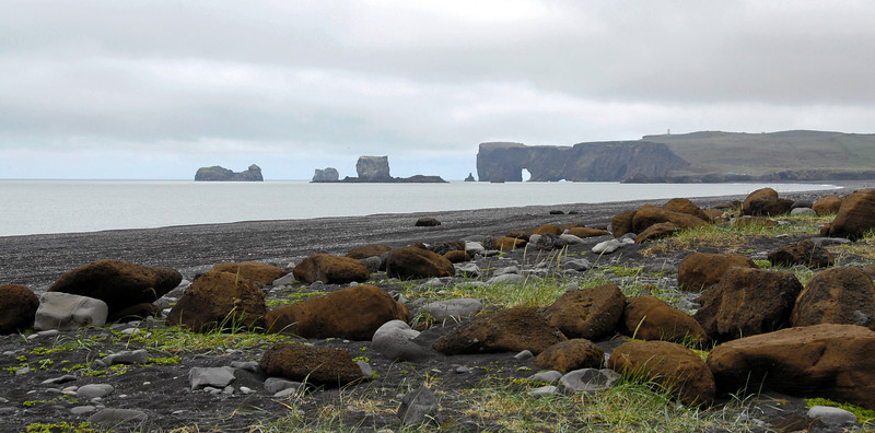 Beach and cliffs at Dyrholaey, southern Iceland