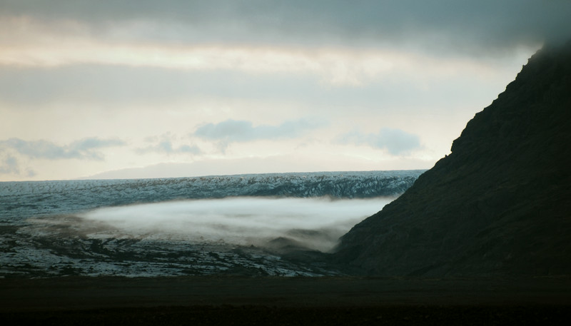 Ground fog on the flank of the Skeiðarárjökull glacier, Iceland