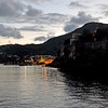 Old harbour and citadel of Lipari island, Italy