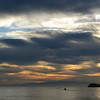 Winter sunrise over the southern Tyrrhenian sea, Italy