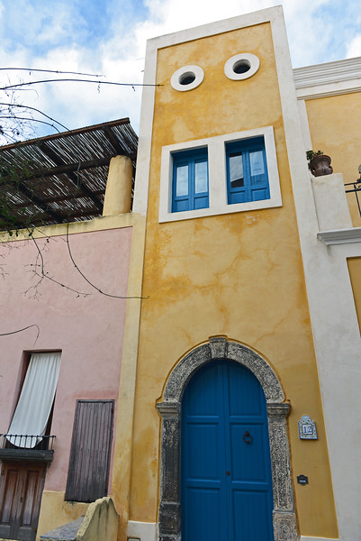 Local architecture on the island of Salina, Italy