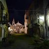 Dead end street in Lipari town, Eolian Islands, Italy