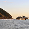 Hydrofoil early morning departure from Lipari for northern Sicily, Italy