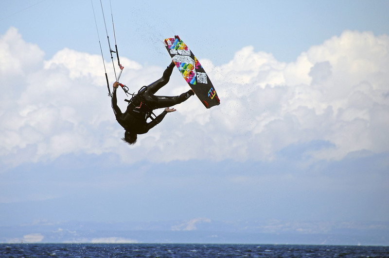Wet leap of faith in Sardinia, Italy