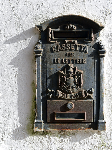 Traditional mail box on Capri, Italy