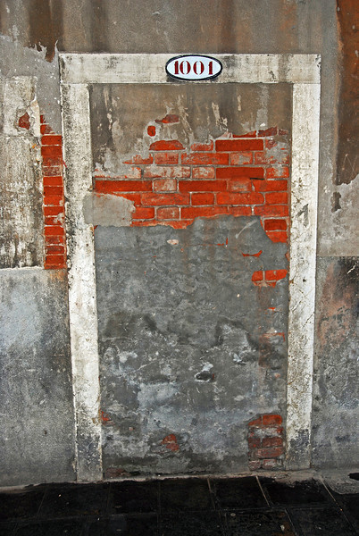 Uninviting doorway in Venice, Italy