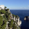 Villa along Capri's coastal cliffs, Italy