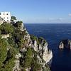 Villa along Capri's coastal cliffs, Italy