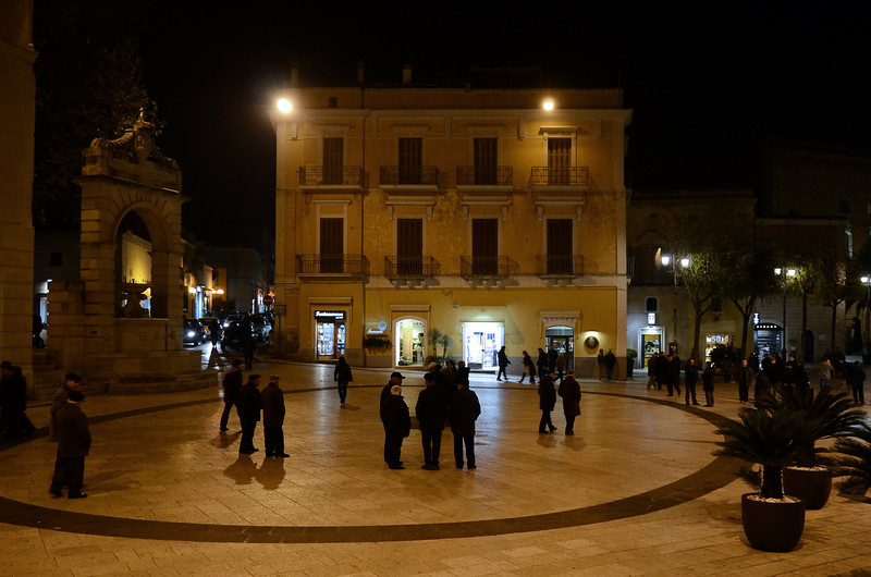Winter evening stroll in Matera, southern Italy