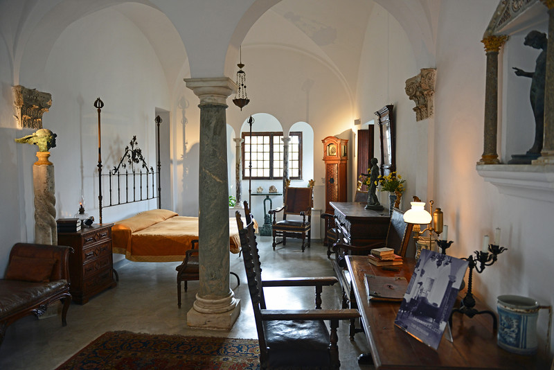 Bedroom in the Villa San Michele on Capri, Italy