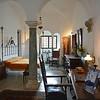Bedroom in the Villa San Michele on Capri, Italy