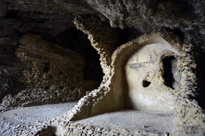 Roman ruins in the Grotta di Matermania on the island of Capri, Italy